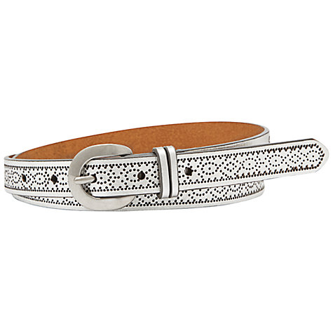 Buy Fossil Fair Isle Jean Belt, Silver Online at johnlewis.com