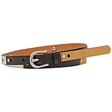 Buy Fossil Colour Block Skinny Belt Online at johnlewis.com