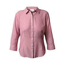 Buy East Contrast Stripe Shirt, Wineberry Online at johnlewis.com