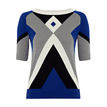 Buy Hobbs Diamond Sweater, Blue Lapis Online at johnlewis.com