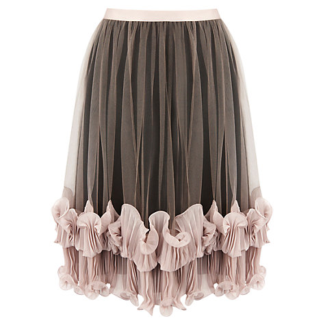 Buy Coast Lennox Skirt, Neutral Online at johnlewis.com