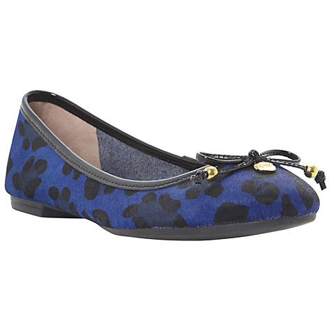 Buy Dune Mina Leopard Print Leather Ballerina Shoes Online at johnlewis.com