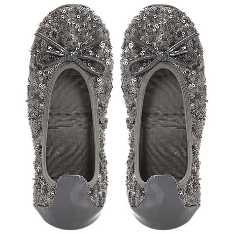 Buy Dune Macie Sequin Embellished Fold-Up Ballerina Pumps Online at johnlewis.com