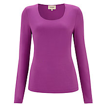 Buy Havren Round Neck T-Shirt, Fushia Online at johnlewis.com