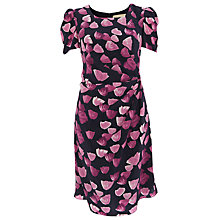 Buy Havren Silk Tulip Dress, Navy/Pink Online at johnlewis.com