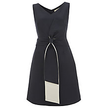 Buy Havren Bow Front Shift Dress, Navy Online at johnlewis.com