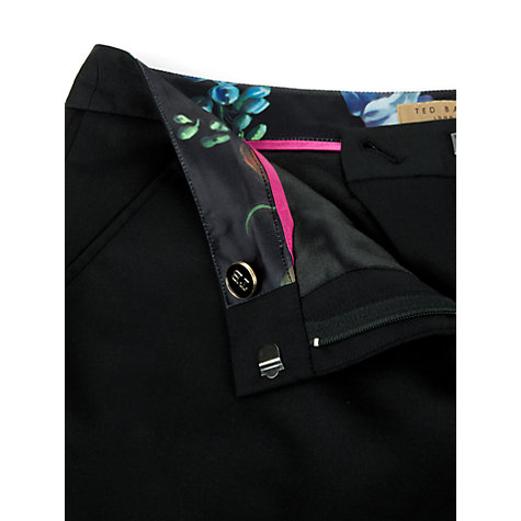 Buy Ted Baker Timeless Slim Cut Trousers, Black Online at johnlewis.com