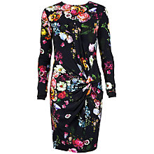 Buy Ted Baker Floral Oil Painting Body Con Dress, Black Online at johnlewis.com