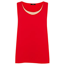 Buy Oasis Double Layer Vest, Red/Multi Online at johnlewis.com