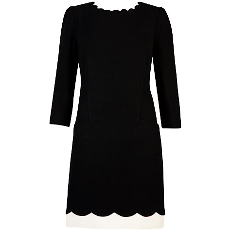 Buy Ted Baker Payton Scallop Neckline Long Sleeve Shift Dress Online at johnlewis.com