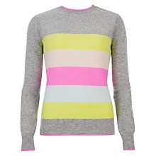 Buy Ted Baker Parnel Striped Jumper, Grey Marl Online at johnlewis.com