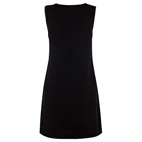 Buy Warehouse Zip Side Crepe Dress, Black Online at johnlewis.com