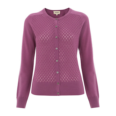Buy Havren Lace Detail Cardigan, Fuchsia Online at johnlewis.com