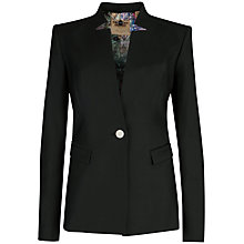 Buy Ted Baker Shiny Lavanta Single Button Blazer, Black Online at johnlewis.com