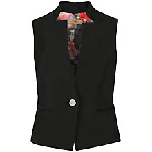 Buy Ted Baker Shiny Lavanta Waistcoat, Black Online at johnlewis.com
