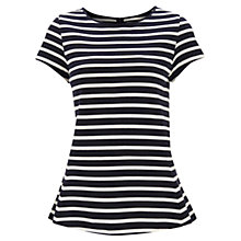 Buy Havren Stripe Peplum Top, Navy/Cream Online at johnlewis.com