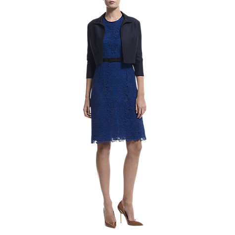 Buy Havren Collared Bolero Jacket, Navy Online at johnlewis.com