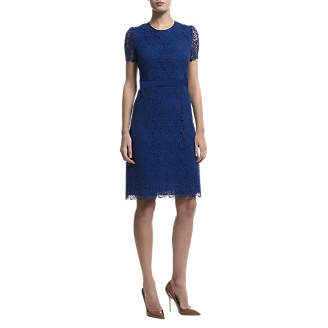 Buy Havren A Line Lace Dress, Cobalt Online at johnlewis.com