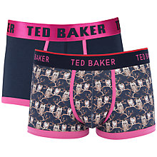 Buy Ted Baker Owl Print and Plain Trunks, Pack of 2 Online at johnlewis.com