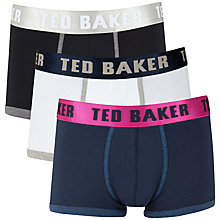 Buy Ted Baker Borsam Plain Trunks, Pack of 3 Online at johnlewis.com