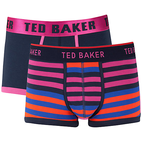 Buy Ted Baker Borsam Stripe and Plain Trunks, Pack of 2 Online at johnlewis.com