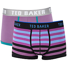 Buy Ted Baker Toaster Stripe and Plain Trunks, Pack of 2 Online at johnlewis.com