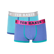 Buy Ted Baker Borsam Plain Trunks, Pack of 2 Online at johnlewis.com