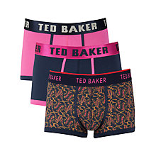 Buy Ted Baker Trunks, Pack of 3, Multi Online at johnlewis.com