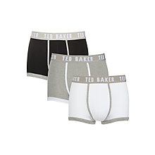Buy Ted Baker Plain Trunks, Pack of 3 Online at johnlewis.com