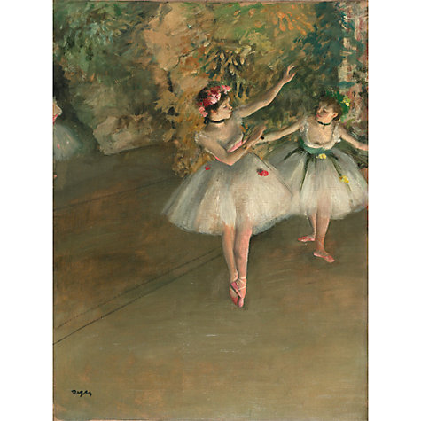 Buy The Courtauld Gallery, Edgar Degas - Two Dancers on a Stage 1874 Print Online at johnlewis.com
