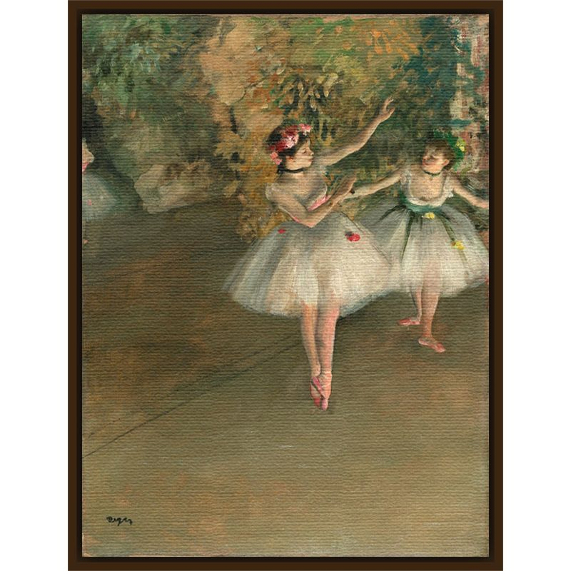 The Courtauld Gallery The Courtauld Gallery, Edgar Degas - Two Dancers on a Stage 1874 Print