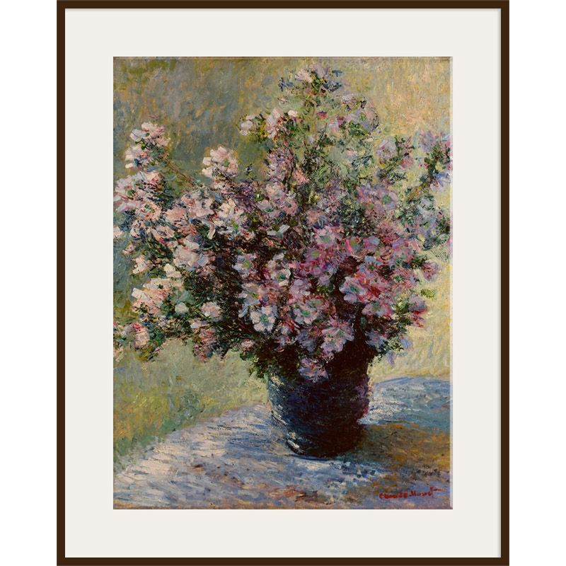 The Courtauld Gallery The Courtauld Gallery, Claude Monet - Vase of flowers 1881-2 Print