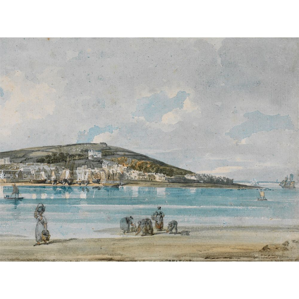 The Courtauld Gallery The Courtauld Gallery, Thomas Girtin - View of Appledore, North Devon, from Instow Sands 1798 Print