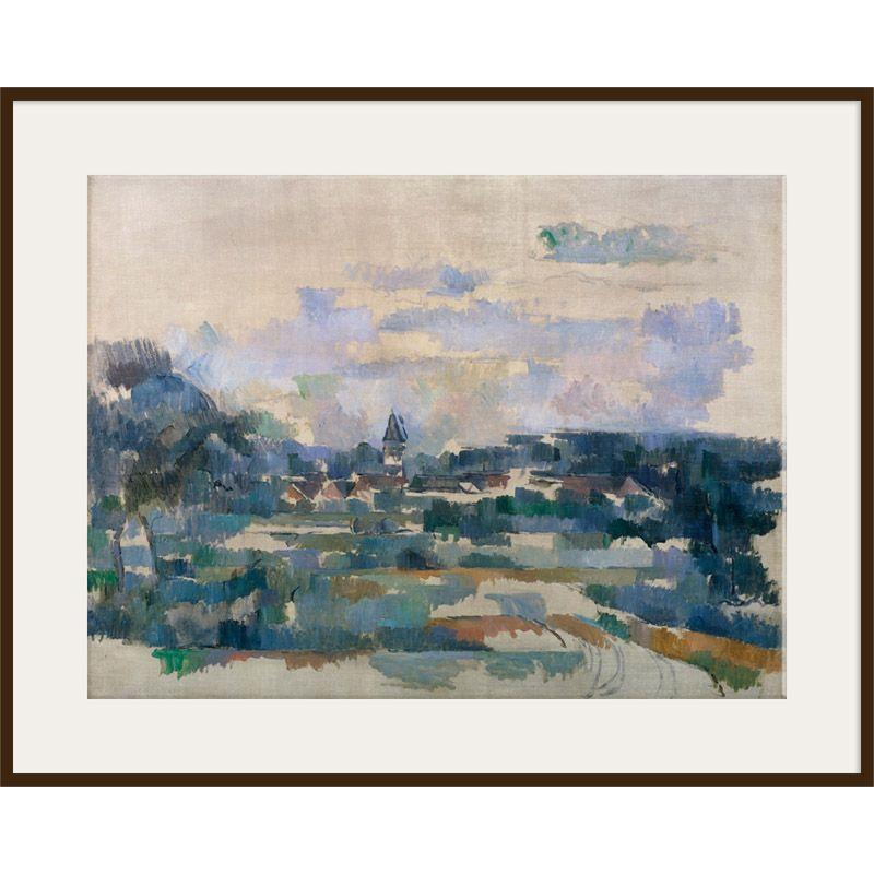 The Courtauld Gallery The Courtauld Gallery, Paul Cézanne - Route Tournante 1902-1906 Print