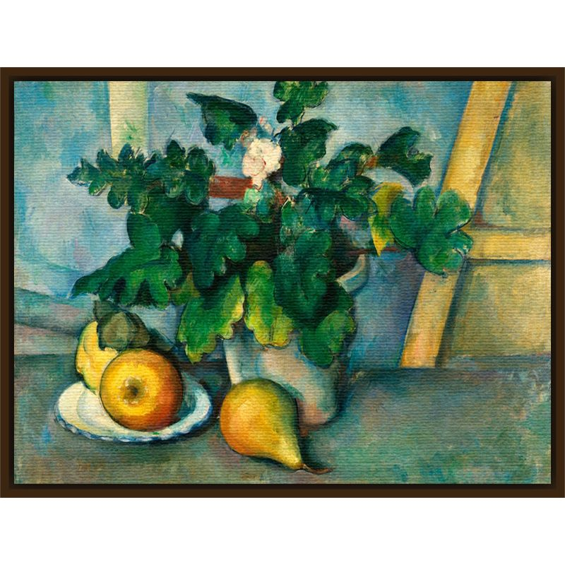 The Courtauld Gallery The Courtauld Gallery, Paul Cézanne - Pot of Primroses and Fruit 1888-1890 Print
