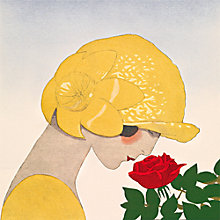 Buy The Courtauld Gallery, Gazette du Bon Ton - No10 1924 Le Parfum de la Rose Detail Print Online at johnlewis.com