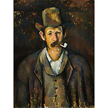 Buy The Courtauld Gallery, Paul Cézanne - Man with a Pipe 1892-1895 Print Online at johnlewis.com