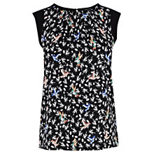 Buy Warehouse Bright Bird Print T-Shirt, Black/Pattern Online at johnlewis.com