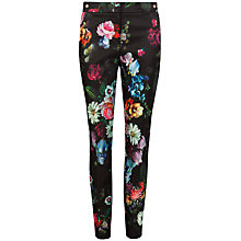 Buy Ted Baker Diemond Painting Floral Trousers, Black Online at johnlewis.com