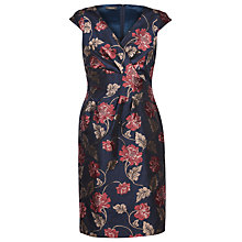Buy Alexon Jacquard Dress, Multi/Navy Online at johnlewis.com