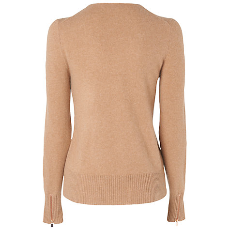 Buy Jaeger Biker Cardigan, Camel Online at johnlewis.com