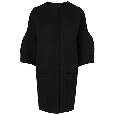 Buy Jaeger London Dropped Shoulder Coat, Black Online at johnlewis.com