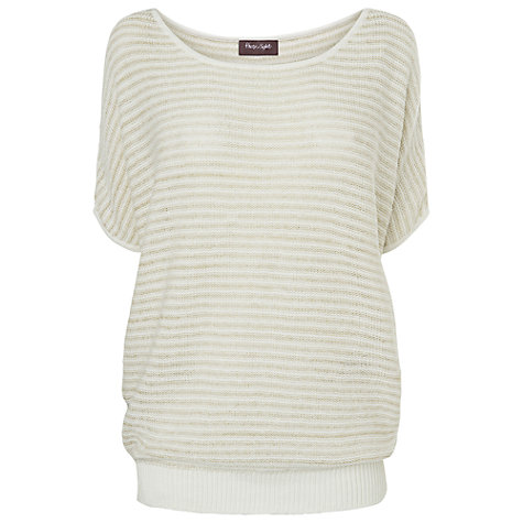 Buy Phase Eight Sienna Stripe Sequin Jumper, Stone Online at johnlewis.com