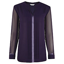 Buy Windsmoor Pleated Tunic Top, Dark Purple Online at johnlewis.com