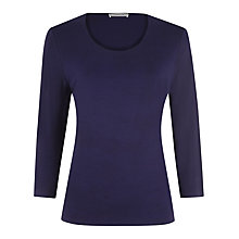 Buy Windsmoor Scoop Neck Jersey Top, Dark Purple Online at johnlewis.com