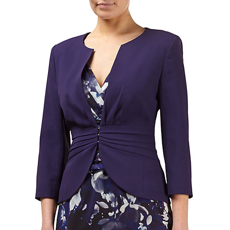 Buy Kaliko Pleated Jacket, Dark Purple Online at johnlewis.com