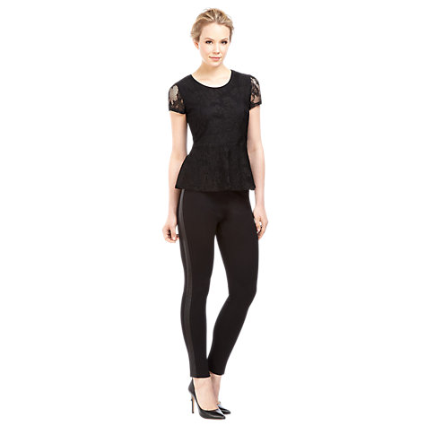Buy Kaliko Panelled Trousers, Black Online at johnlewis.com