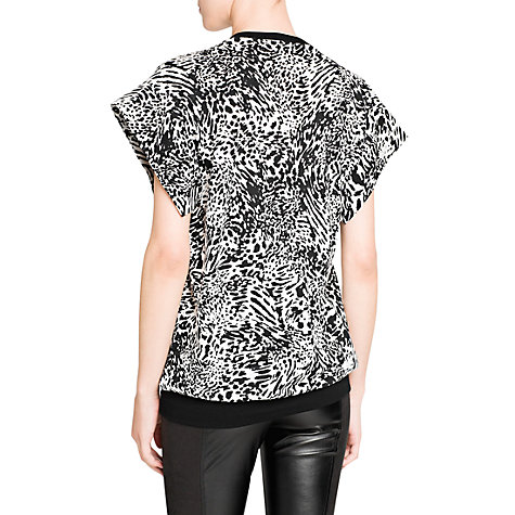 Buy Mango Animal Print T-Shirt, Natural White Online at johnlewis.com