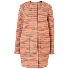 Buy Jaeger Neon Tweed Coat, Orange Online at johnlewis.com