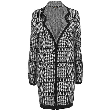 Buy Jaeger Knitted Cardigan Coat, Black Online at johnlewis.com